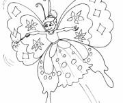 Coloriage Papillon Ange