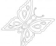 Coloriage Papillon avec ses ailes décorés