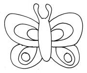 Coloriage Papillon et ses antennes