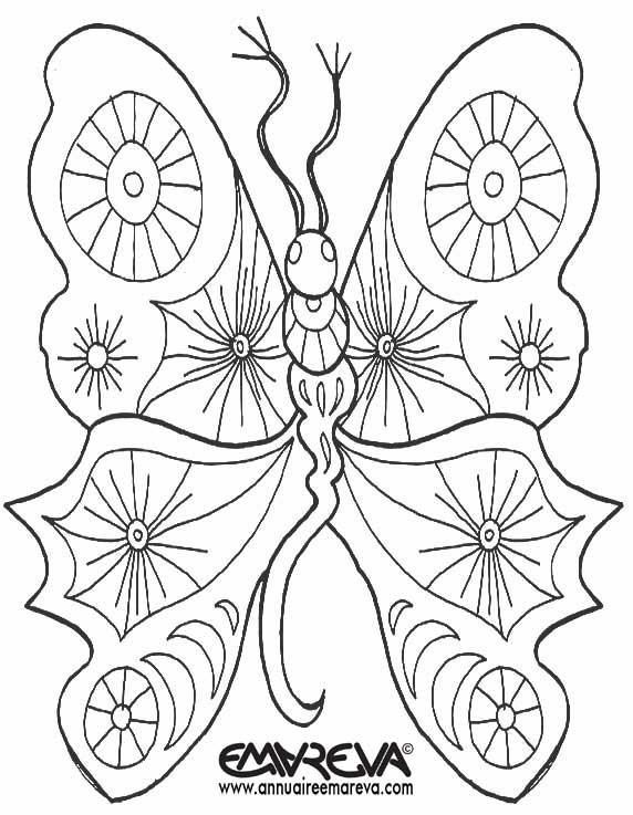 Coloriage et dessins gratuits Papillon Fantastique à imprimer