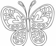Coloriage Papillon formidable en coeur