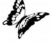 Coloriage Papillon magnifique en noir