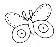 Coloriage dessin  Papillon Maternelle 28