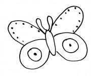 Coloriage Papillon Maternelle au crayon