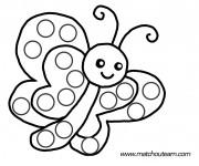 Coloriage et dessins gratuit Papillon mignon à imprimer