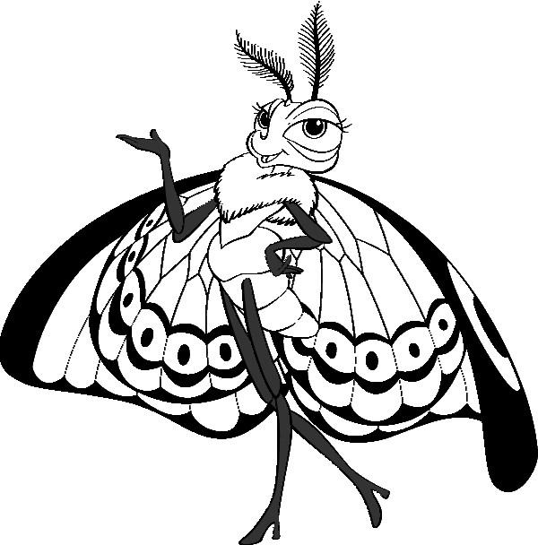 Coloriage et dessins gratuits Papillon Princesse à imprimer