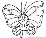 Coloriage et dessins gratuit Petit Papillon mignon à imprimer