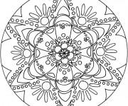 Coloriage dessin  Mandala Difficile 45