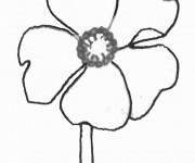 Coloriage dessin  Marguerite 12