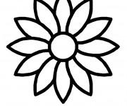 Coloriage et dessins gratuit Marguerite à compléter à imprimer