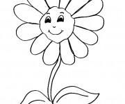 Coloriage et dessins gratuit Marguerite avec le sourire sur le visage à imprimer