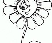 Coloriage et dessins gratuit Marguerite ayant un visage à imprimer