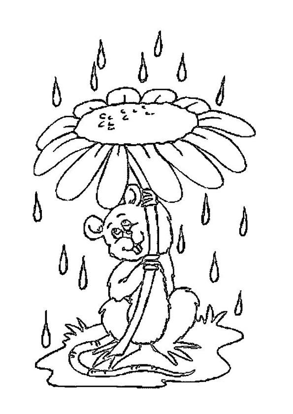 Coloriage et dessins gratuits Marguerite comme parapluie à imprimer