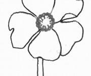 Coloriage et dessins gratuit Marguerite couleur à imprimer
