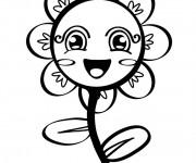 Coloriage et dessins gratuit Marguerite en couleur à imprimer