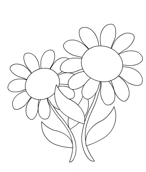 Coloriage et dessins gratuits Marguerite facile à découper à imprimer