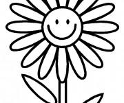 Coloriage et dessins gratuit Marguerite rigolote à imprimer