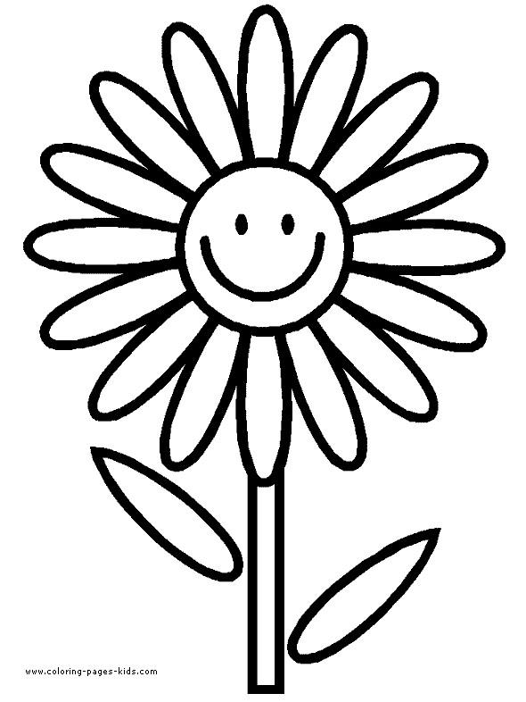 Coloriage et dessins gratuits Marguerite rigolote à imprimer