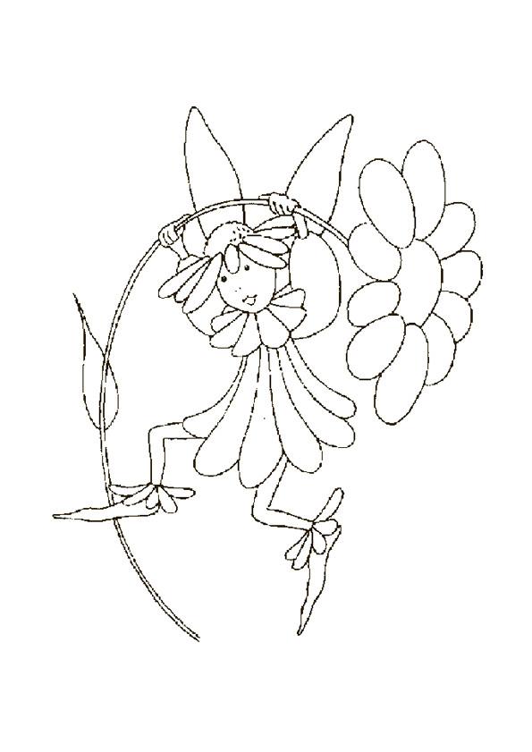 Coloriage et dessins gratuits Petite fille Marguerite à imprimer