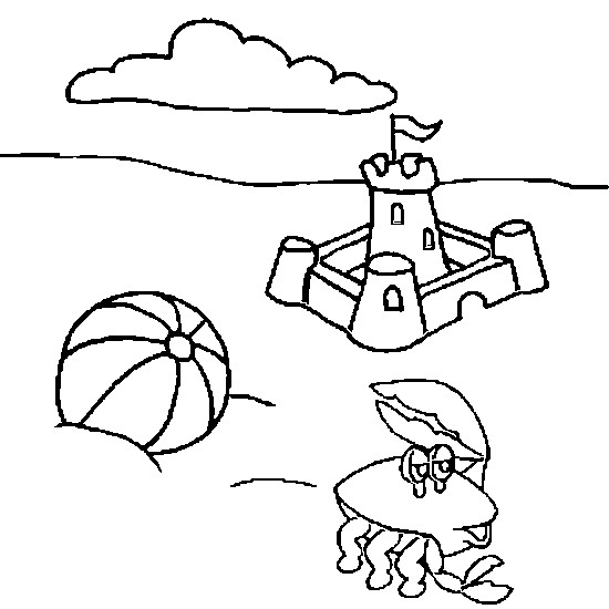 Coloriage et dessins gratuits château de plage à imprimer