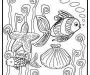 Coloriage La vie dans la Mer