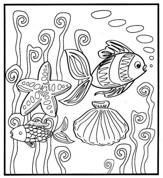 Coloriage et dessins gratuits La vie dans la Mer à imprimer
