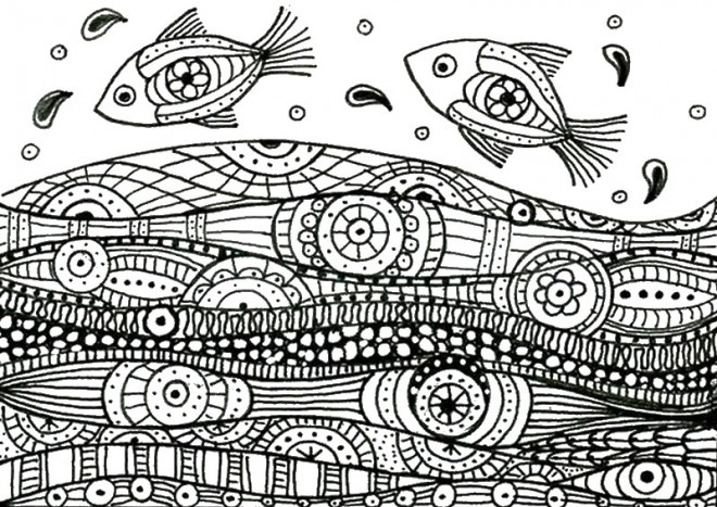 Old Fashioned Mandala Poisson Photos - Coloring Pages Online ...