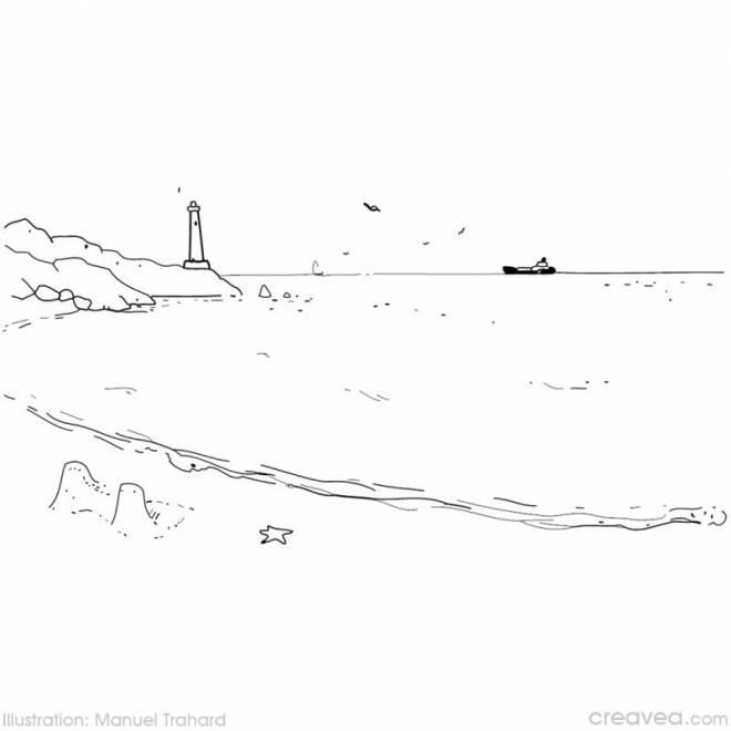 Coloriage et dessins gratuits Phare à bateau à imprimer