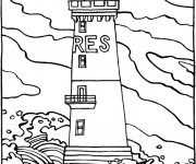 Coloriage et dessins gratuit Phare de Mer à imprimer