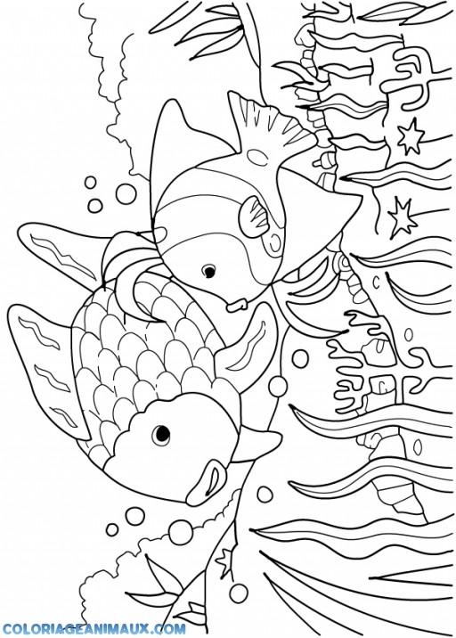 Coloriage et dessins gratuits Poissons exotiques de Mer à imprimer