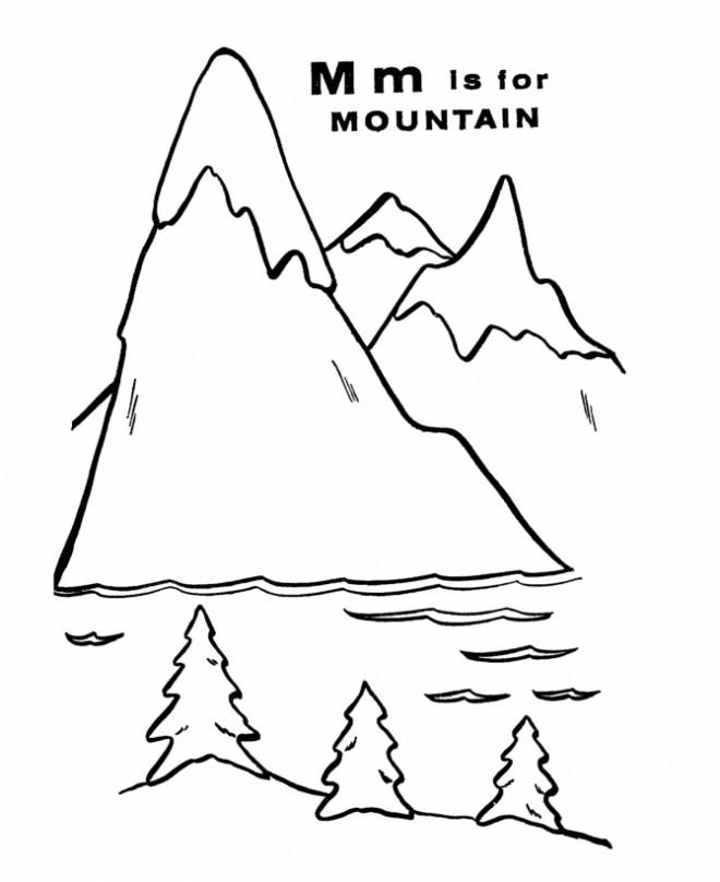 Coloriage et dessins gratuits chaîne montagneuse facile à imprimer