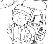 Coloriage et dessins gratuit Grimpeur de Montagne à imprimer