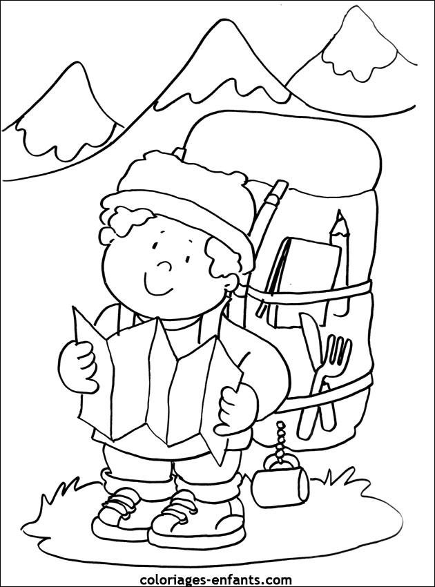 Coloriage et dessins gratuits Grimpeur de Montagne à imprimer