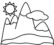 Coloriage dessin  Montagne 1