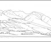 Coloriage dessin  Montagne 2