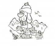 Coloriage dessin  Montagne 5