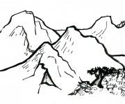 Coloriage dessin  Montagne 7