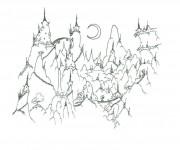 Coloriage dessin  Montagne 8