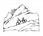 Coloriage dessin  Montagne 9