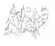 Coloriage et dessins gratuit Montagne dessin animé à imprimer