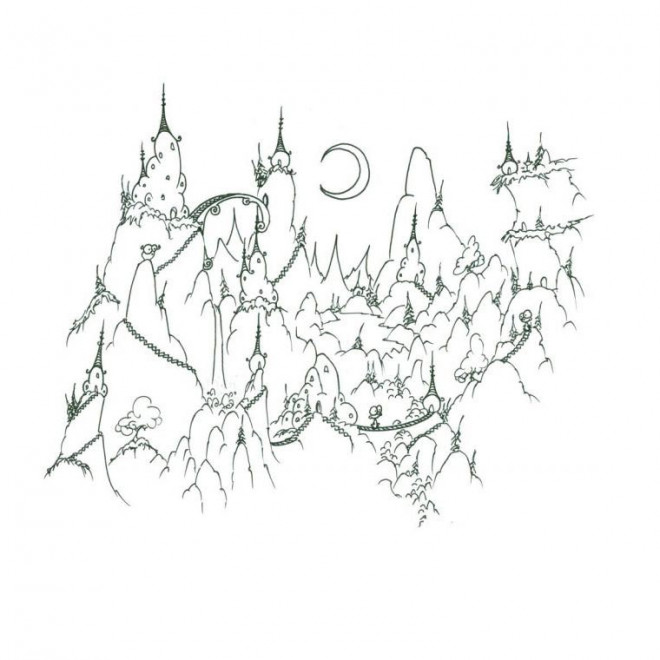 Coloriage et dessins gratuits Montagne dessin animé à imprimer