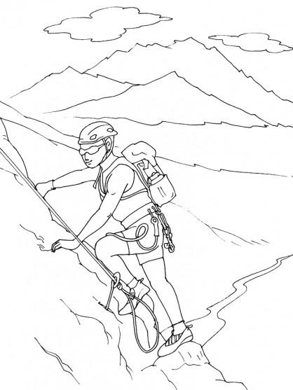 Coloriage et dessins gratuits Montagne et sport à imprimer