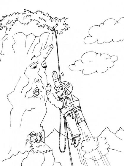 Coloriage et dessins gratuits Montagne parlant à imprimer