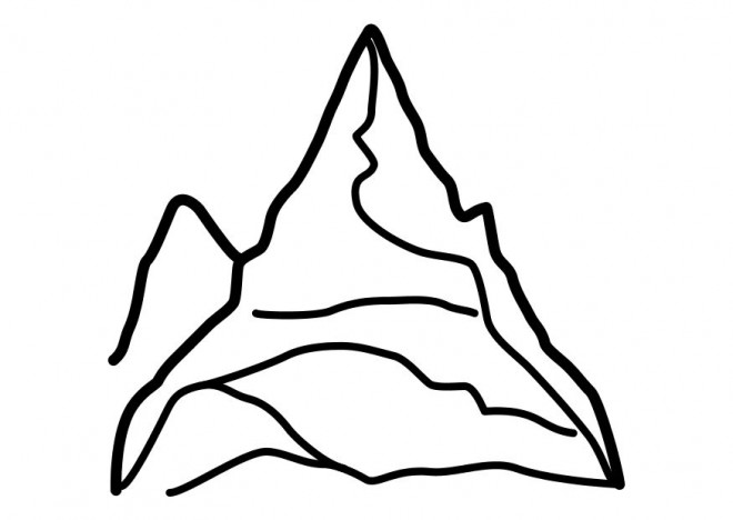 Coloriage et dessins gratuits Montagne simple à imprimer