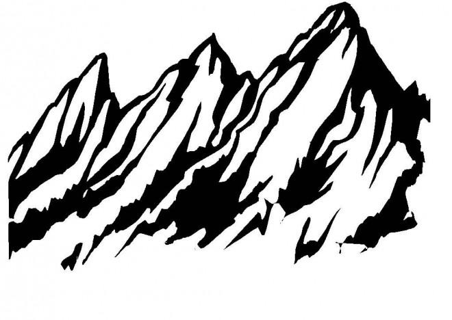 Coloriage montagne vecteur dessin gratuit imprimer - Coloriage relief ...