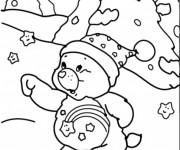 Coloriage et dessins gratuit Ours dans la Montagne à imprimer