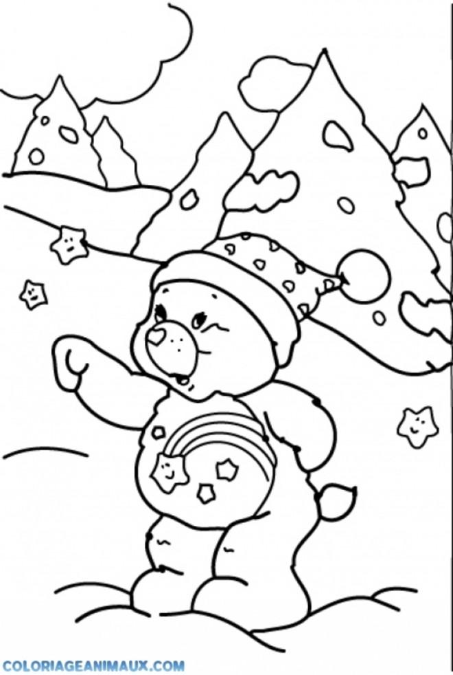 Coloriage et dessins gratuits Ours dans la Montagne à imprimer