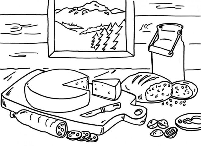 Coloriage et dessins gratuits Paysage de compagne à imprimer