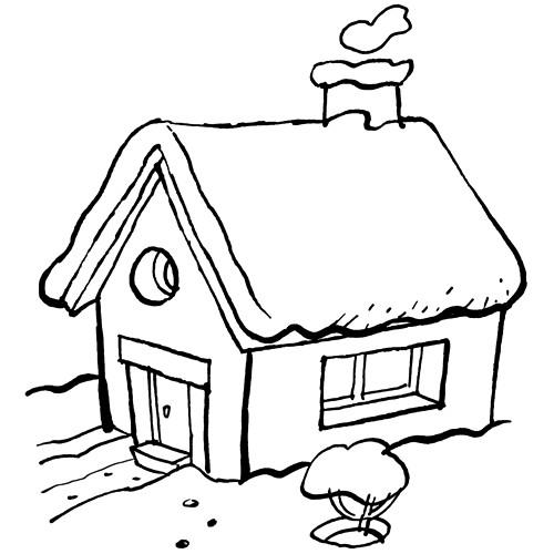 Coloriage et dessins gratuits Paysage de Maison rurale à imprimer