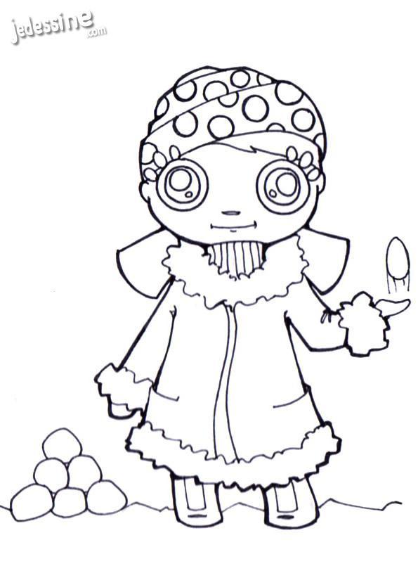 Coloriage et dessins gratuits Petite Grimpeuse à imprimer